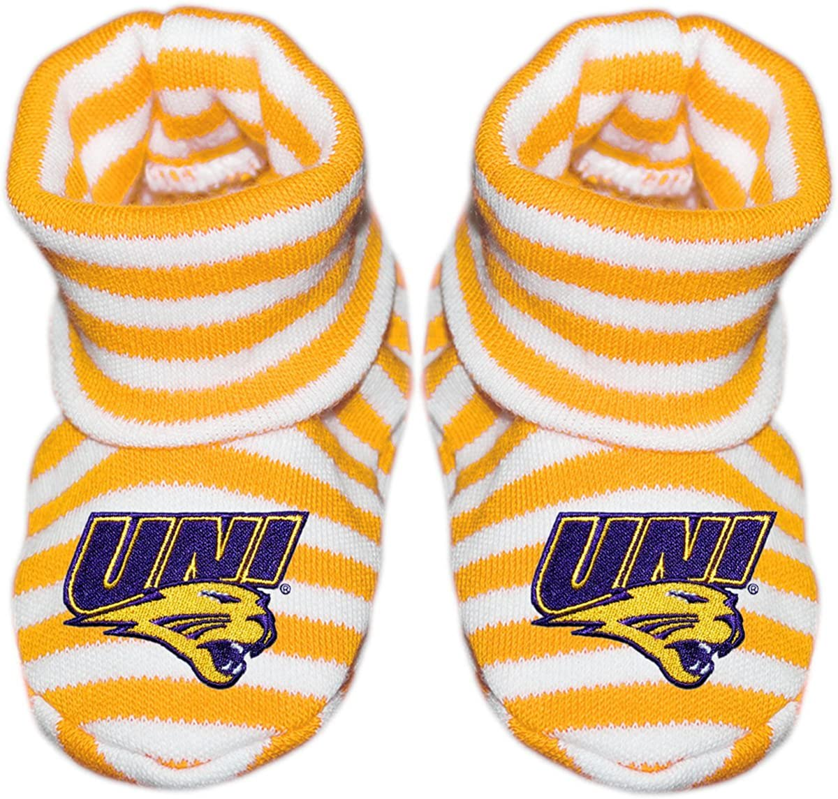 University of Northern Iowa UNI Bootie quality assurance Baby Striped Sock Fashion Newborn
