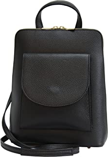AMBRA Moda GL020 - Bolso bandolera, Bolso mochila, Bolso bandolera de piel auténtica para mujer