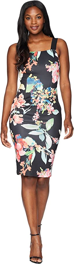 Garden Fiesta Printed Sheath Dress