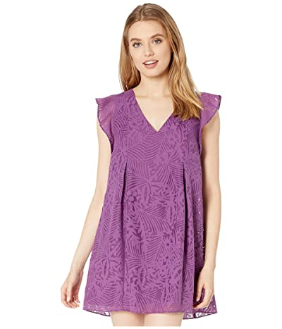 BCBGeneration Flutter Sleeve Bow Back Dress ZRE6210330 (Violet) Women