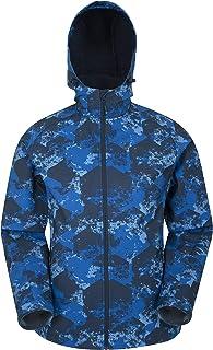 Mountain Warehouse Exodus - Giacca a Vento Uomo in Tessuto Softshell - Traspirante, Resistente alla Pioggia, Rivestimento ...