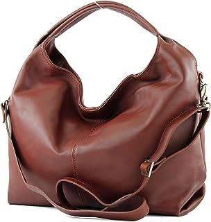 modamoda de - DS26 - ital Damenhandtasche aus Nappaleder
