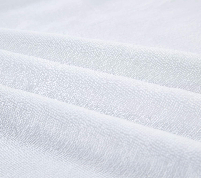 Cozy Lot de 2 draps-housses en micropeluche super doux pour berceau gris/blanc Gris/Blanc