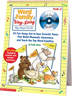 Scholastic SC-0439456703 Word Family Sing-Along Flip Chart and CD, Grades K-2, 15