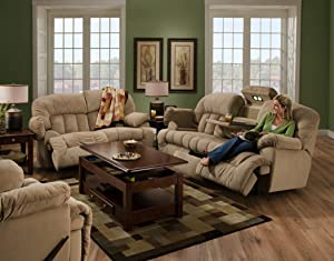 Comfort Eze by Franklin Nolan Reclining Sofa, Coffee