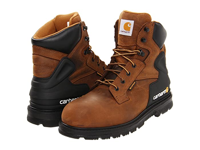 Carhartt  6 Steel Toe Waterproof Work Boot (Brown) Mens Work Lace-up Boots