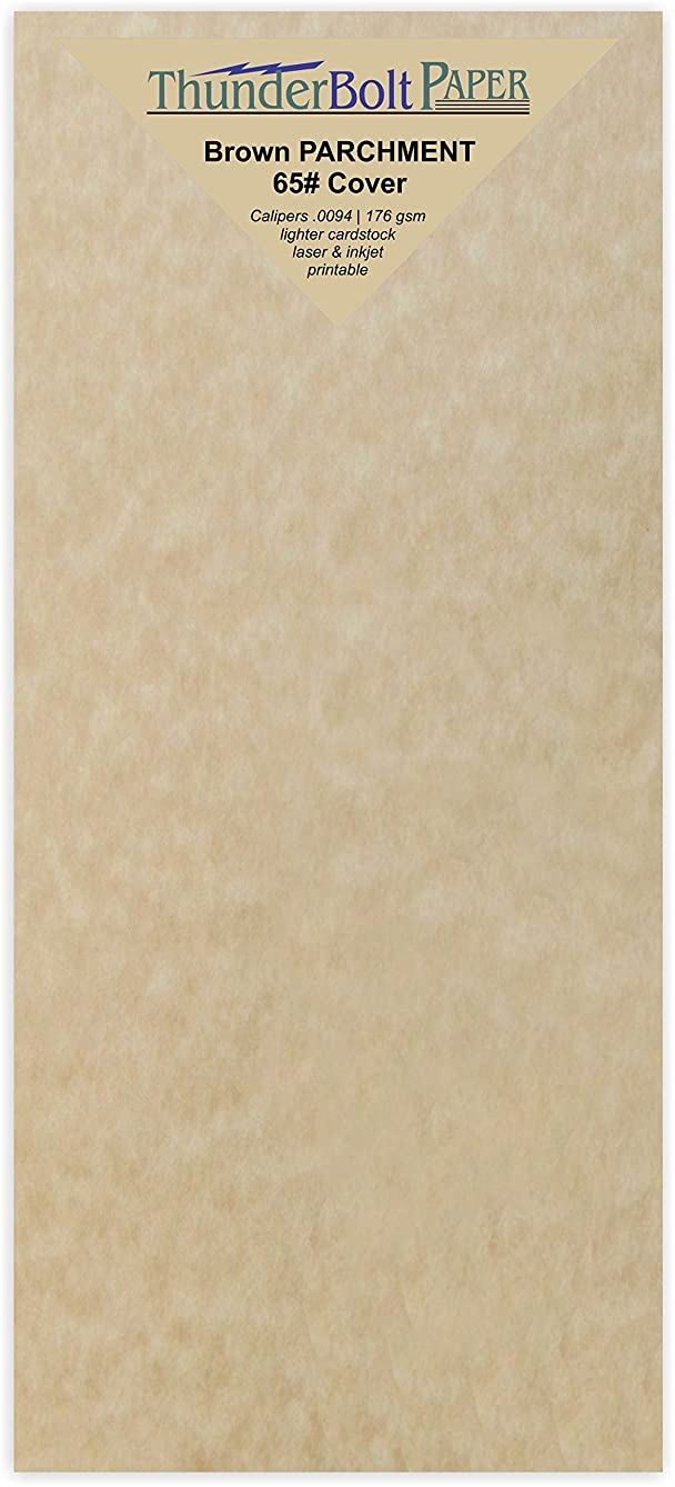 125 Brown Parchment 65lb Cover Weight Paper - 4