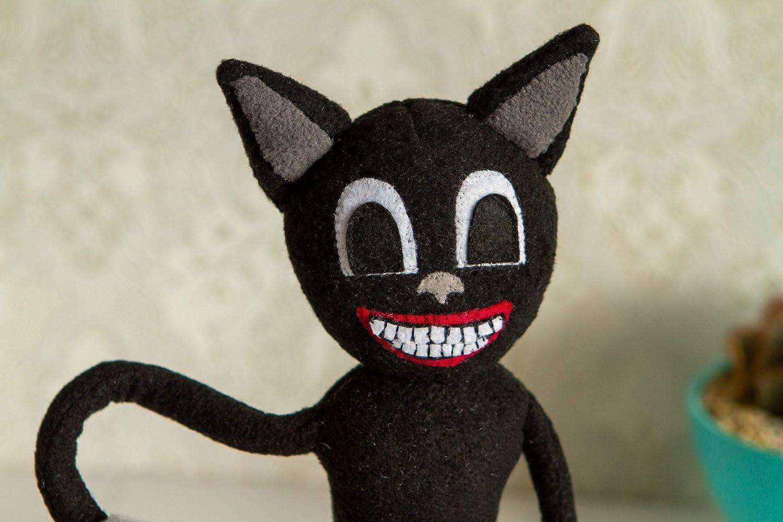 Amazon Com Cartoon Cat Plush Handmade Toy With Wire In Hands Cartoon Cat Toy Cartoon Cat Inspired Plushie Handmade