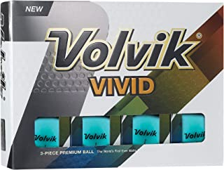 Volvik Vivid Matte Finished Colored Golf Balls (One Dozen)
