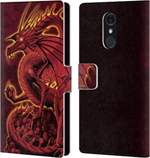 Official Vincent HIE Abolisher Red Dragons 2 Leather Book Wallet Case Cover Compatible for LG Q Stylus/Q Stylo 4