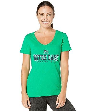 Champion College Notre Dame Fighting Irish University V-Neck Tee (Kelly Green) Women