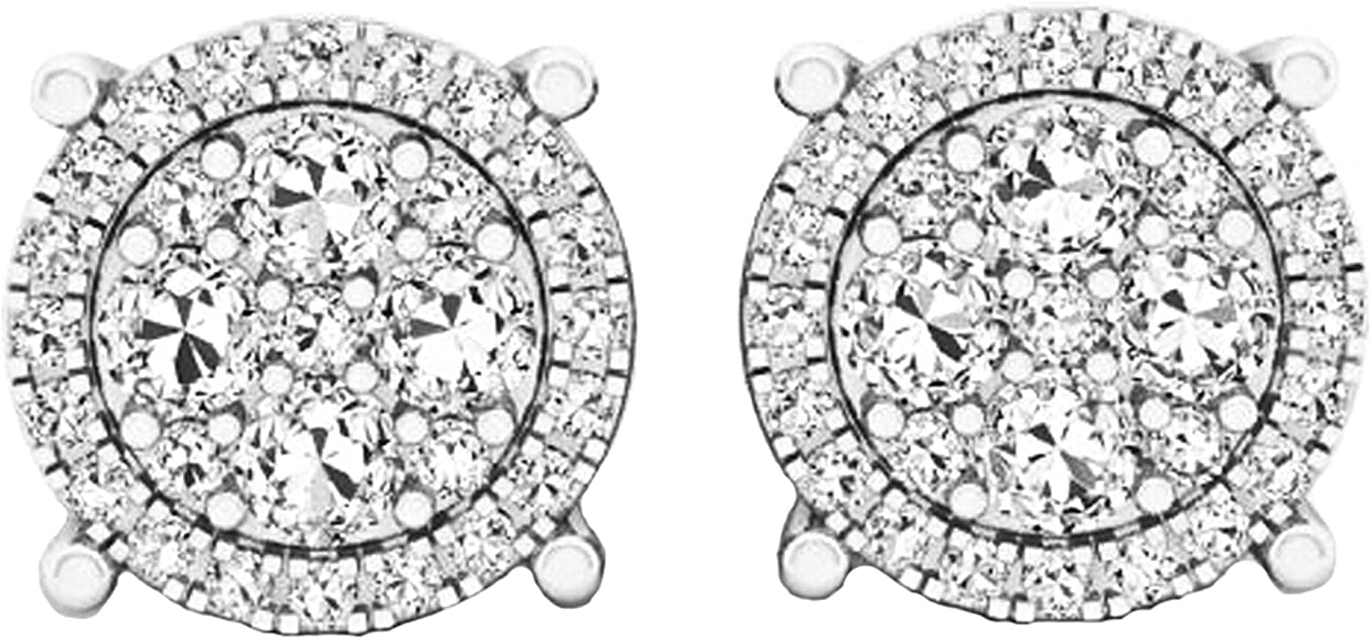 Dazzlingrock Collection Round 100% quality warranty White Cluster Ladies Flowe Diamond Selling