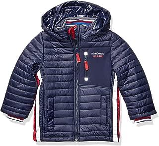London Fog Boys' Little Active Puffer Jacket Winter Coat, Navy Super, 4