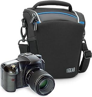USA Gear | Bolsa para Cámara de Fotos Réflex Digital | Compatible: Canon Nikon Sony y más | Negro