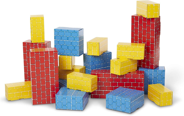 Melissa Doug Year-end gift Deluxe Jumbo 24 Cardboard Excellent Pieces Blocks