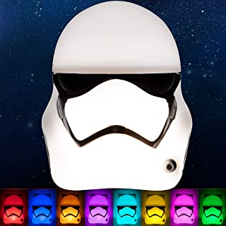 Stormtrooper Color-Select LED Night Light, Star Wars, Color Changing, Disney Night Light, Light Sensing, Galaxy, For Kids, 3D Star Wars, Plug-In, 43067