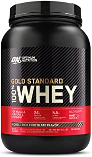 Optimum Nutrition Gold Standard 100% Whey Protein Powder, Double Rich Chocolate, 907 Grams