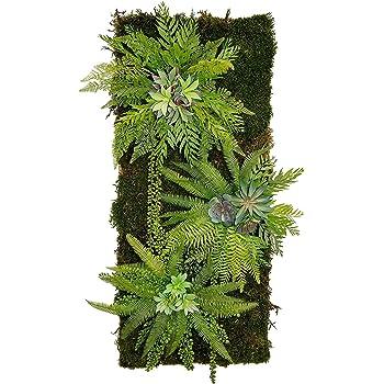 Maia Shop Jardín Vertical, Ideal para Decoración del Hogar u Oficina, Diseño de Espacios, Árbol, Flor, Planta Artificial (115 x 50 cm): Amazon.es: Hogar