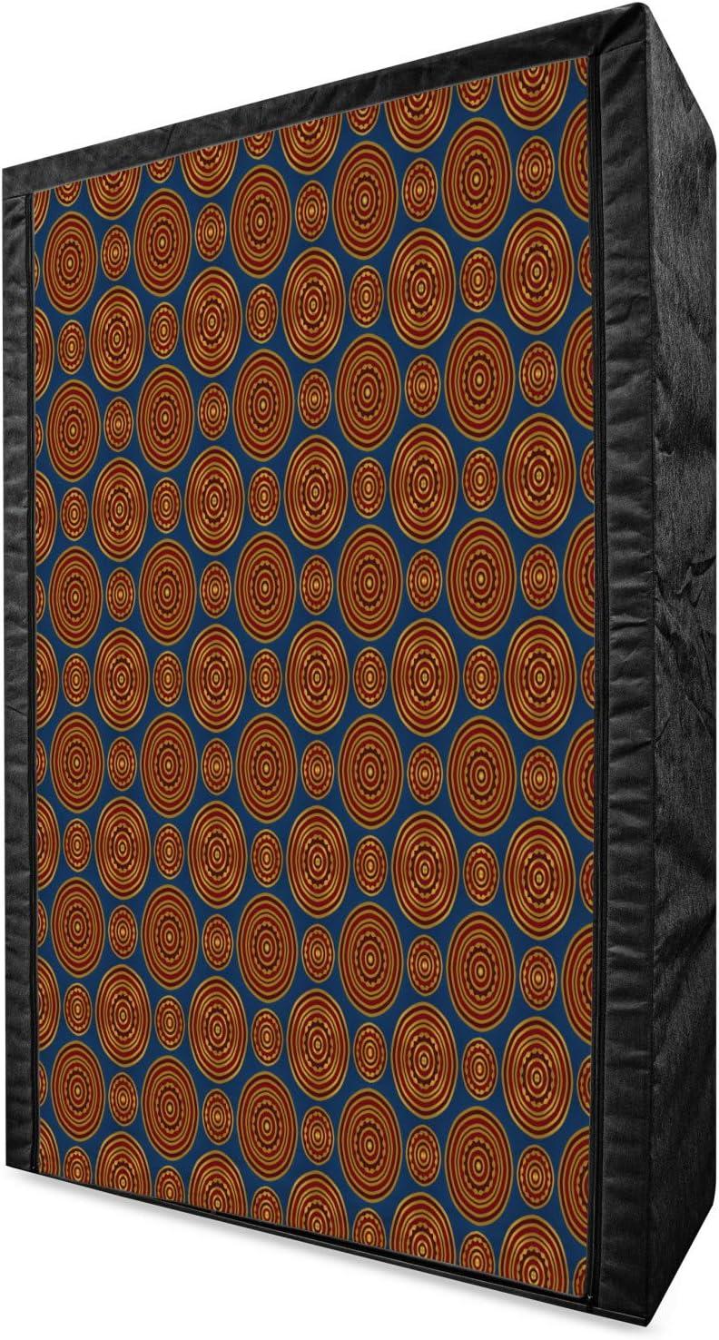 Sale special price Ambesonne Mandala Portable Fabric Wardrobe Abstract Circles Ori San Antonio Mall