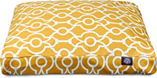 """(citrus, 110cm x 90cm x 5"""") - Athens Large Rectangle Outdoor/Indoor Dog Bed"""