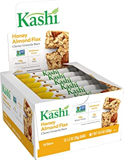 Kashi, Chewy Granola Bars, Honey Almond Flax, Non-GMO Project Verified, 14.4 oz (12 Count)(Pack of 6)