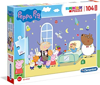 Clementoni Peppa Pig Supercolor Puzzle Pig-104 Piezas Maxi, Multicolor (23735)