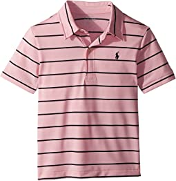 Polo Ralph Lauren Kids - Striped Performance Lisle Polo (Little Kids/Big Kids)
