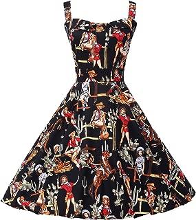 GRACE KARIN Women's Printed 1950's Vintage Retro Cocktail Party Dresses CL6092