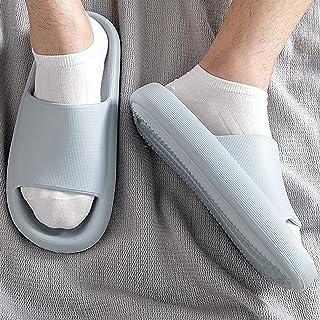 YAOLUU Summer Slippers Zapatillas para Hombre Verano Interior baño Blando Abajo Resistente al Desgaste Aumentado Four Seas...