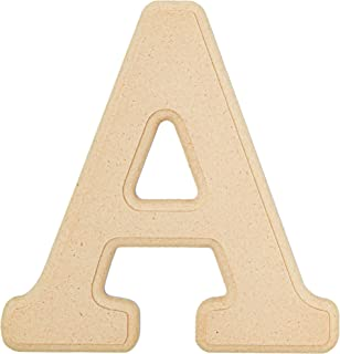 Bright Creations MDF 6 Inch Wood Letter A for DIY Crafts (2 Pack)