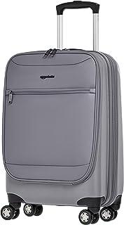 AmazonBasics Hybrid Exterior Carry-On Expandable Spinner Luggage Suitcase - 22 Inch, Grey