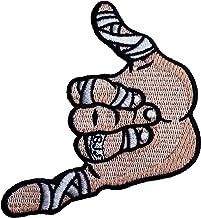 Shaka Hand BJJ Patch (3.5 Inches) Brazilian Jiu Jitsu Embroidered Iron/Sew on Badge Hang Loose Grappling GI Grappler Appli...