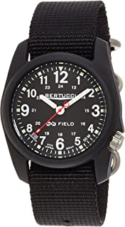 Bertucci Men's 11015 Analog Display Analog Quartz Black Watch