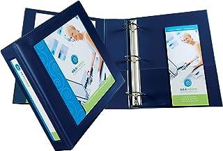 ورق عرض بإطار من Avery مع حلقة واحدة مقاس 5.08 سم EZD، يحمل ورق مقاس 21.5 سم × 27.94 سم، أزرق داكن (68033)