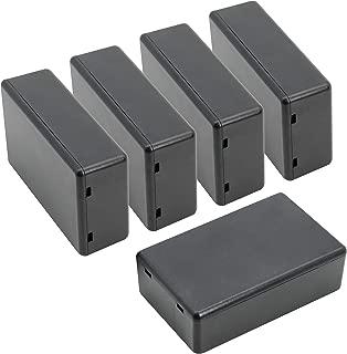 LeMotech 5 Pieces Plastic Project Boxes Junction Case for Electronic Project, Black 3.15