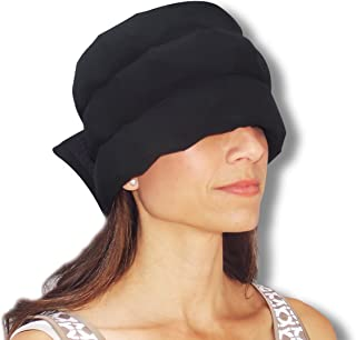HEADACHE HAT The Original - Wearable Ice Pack for Migraine & Headache Relief, Long Lasting Cooling Therapy, Stress Relief, Tension Relief, Eye Mask, Extra Large