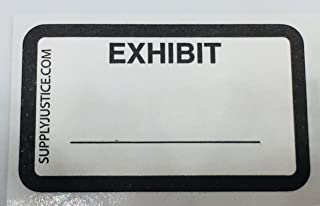 Exhibit Stickers - White - 900 Stickers in a Package