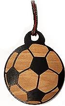 Hat Shark Soccer Ball Laser Engraved Black Painted Wooden Christmas Tree Ornament Gift Seasonal Decoration