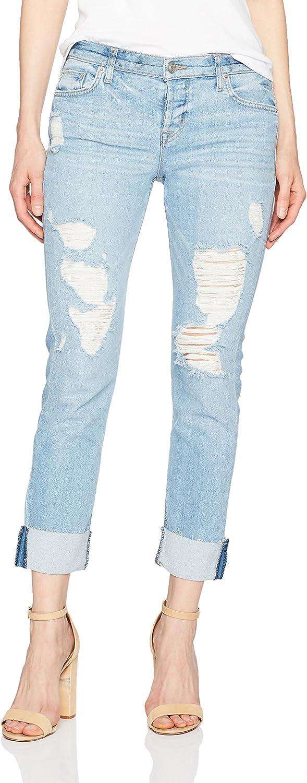 Hudson Jeans Womens Riley Crop Rlxd Str Raw Cuffed Jeans