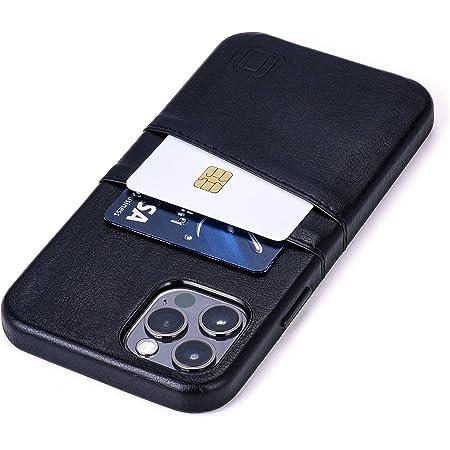 Dockem Exec M2 Funda Cartera para iPhone 12 y iPhone 12 Pro: Funda Tarjetero Slim con Placa de Metal Integrada para Soporte Magnético: Serie M [Negro]