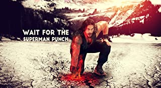 United Mart Poster Roman Reigns Super Man Punch Album Cover Poster 12 x 18 Inch Rolled Poster