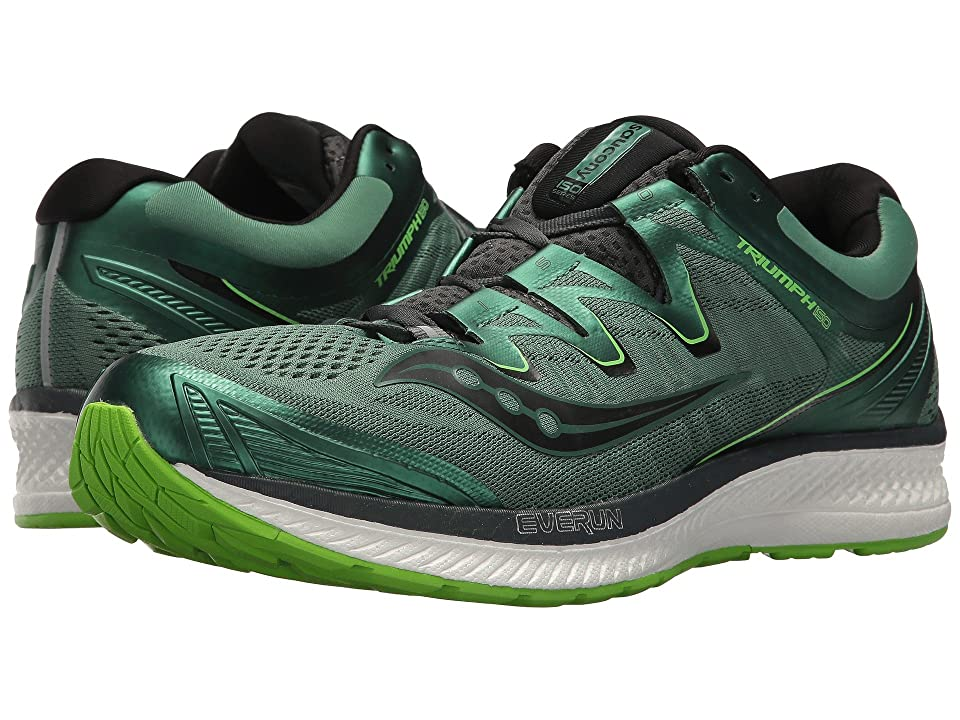 Saucony Triumph ISO 4 (GreenBlack) Men's Running Shoes