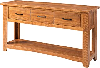 Martin Svensson Home Rustic Sofa Table, Honey Tobacco
