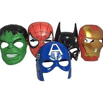 Seasons Merchandise Set of 5 Masks: Spider-Man, Batman, Hulk, Iron Man, Captain America
