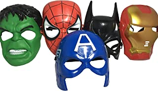 Seasons Merchandise Set Of 5 Masks: Spider-Man, Batman, Hulk, Iron man, Captain America