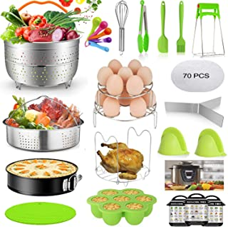 Mibote 93 Pcs Accessories Set for Instant Pot 5,6,8 Qt, 2 Steamer Baskets, Springform Pan, Egg Steamer Rack, Egg Bites Mol...