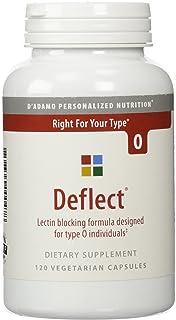 D'adamo Deflect, Lectin Blocking Formula, The Blood Type Diet 0, 120 Vegetarian Capsules
