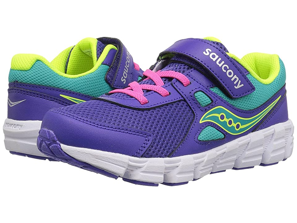 Saucony Kids Vortex A/C (Little Kid) (Purple/Citron) Girls Shoes