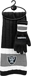 raiders scarf and gloves