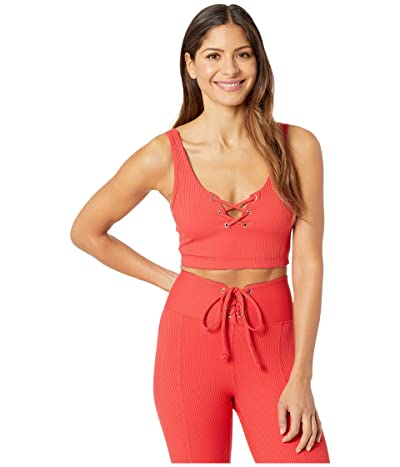 YEAR OF OURS Rib Football Bra (Red) Women